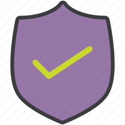 approve, authentication, protection, secure, security, shield, success icon