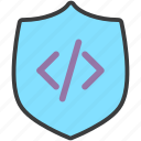 antivirus, code, protection, secure, security, shield, software icon