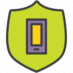 mobile, phone, protection, secure, security, shield, smart icon