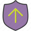 protection, secure, security, shield, storage, transfer, upload icon