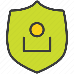 authentication, login, protection, secure, security, shield, user icon