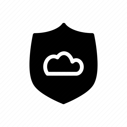 cloud, data, protection, secure, security, shield, storage icon