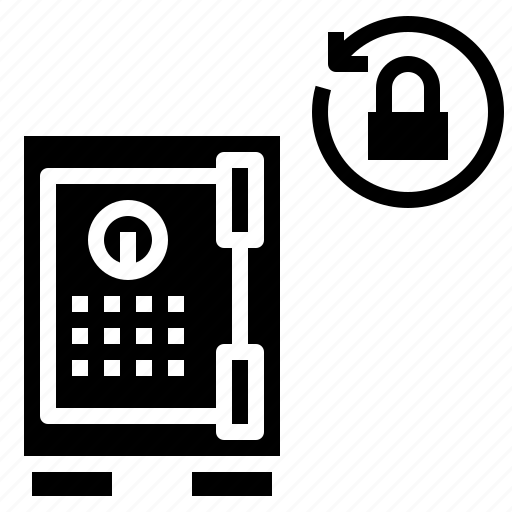 box, lock, room, safe, savings, security, strongbox icon