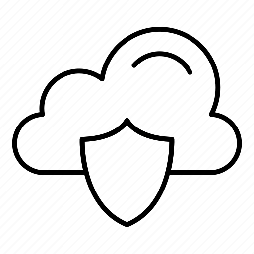 cloud, cloudnetwork, cloudy, protect, security, shield, sky icon