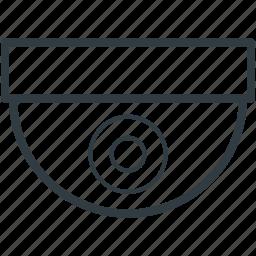 cctv camera, d, dome camera, inspection, security camera, surveillance icon