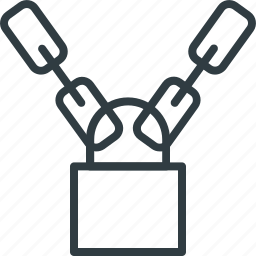 chains, lock, padlock, protection element, security symbol icon