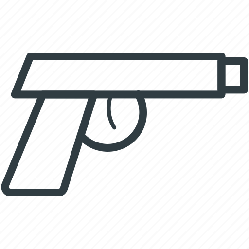 8mm pistol, firearm, gun, pistol icon