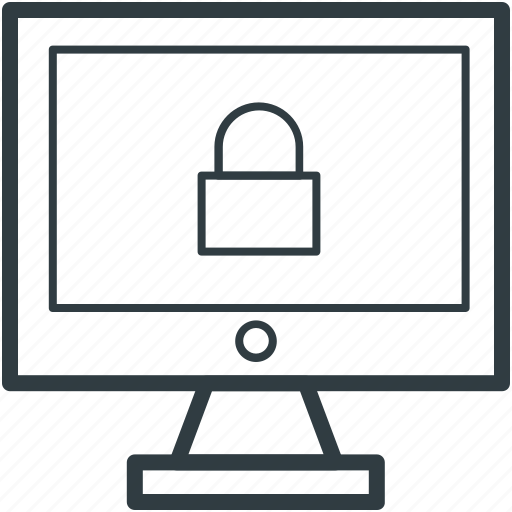 computer protection, internet security, lock sign, pc protection, virus control icon