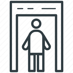 detector gate, security check, security control, security entrance, security portal icon