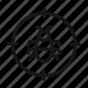 bug, bug target icon, target, virus icon