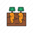agriculture, growing, carrots icon