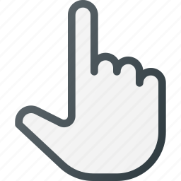 finger, hand, link, over, pointer icon
