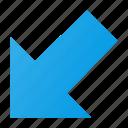 arrow, corner, cursor, mouse, select icon