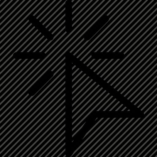 arrow, click, cursor, location, pointer icon