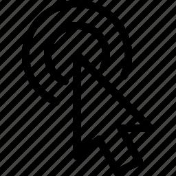 arrow, click, direction, double, pointer icon