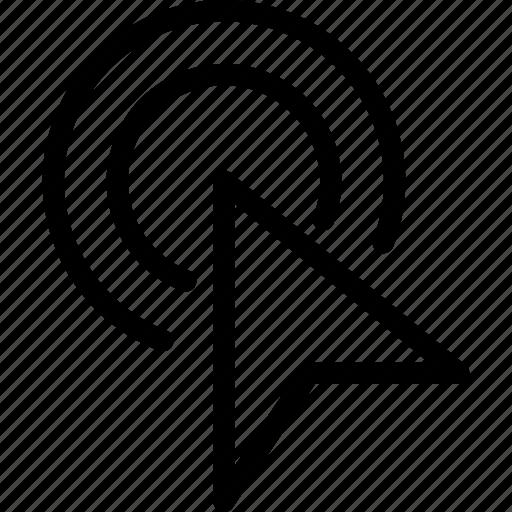 arrow, click, double, mouse, pointer icon