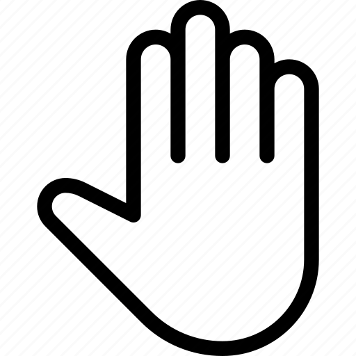 fingers, gesture, hand, open, touch icon