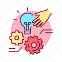 emotion, hand, identify, possible, self control, solutions icon