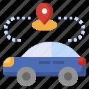 autonomous, car, self, driving, vehicle, transport, resource icon