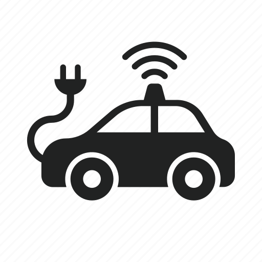 car, charge, driving, electric, power, self, self driving car icon