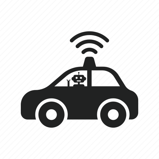 automatic, car, driving, robot, self, self driving car icon