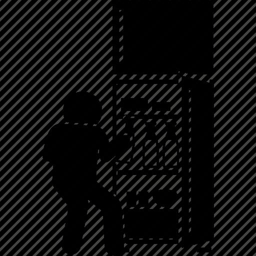 Boy, child, children, fridge, kid, milk, refrigerator icon - Download on Iconfinder