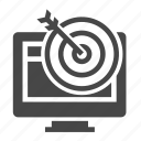 computer, marketing, monitor, seo, target icon