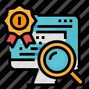 analysis, engine, optimize, search, seo icon