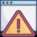 alarm, alert, browser, danger, warning, webpage, website
