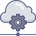 cloud, options, preferences, settings, sharing, storage icon