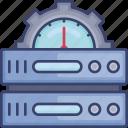 dashboard, gear, performance, rack, seo, server, storage icon
