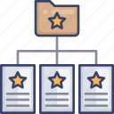 document, favourite, file, folder, network, page, star icon