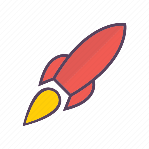 optimisation, rocket, seo, spaceship icon
