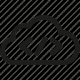 cloud, code, internet, network, seo, storage, web icon