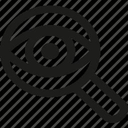 eye, find, optimization, search, seo, spy, view icon