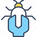 bug, business, fix, internet, market, seo icon