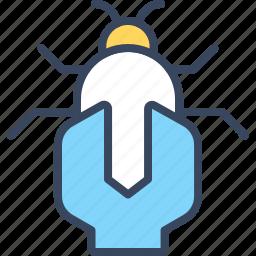 bug, business, fix, internet, market, seo icon
