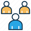 communication, group, management, meeting, people, users icon