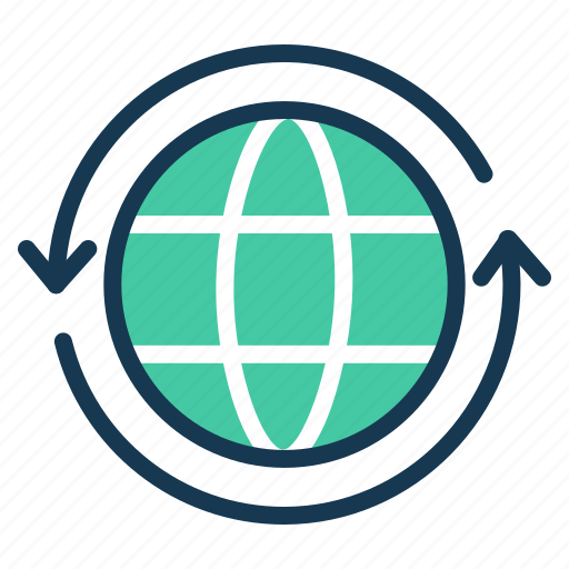 communication, connect, globe, internet, refresh, seo icon