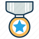 achievement, award, badge, reward, ribbon, star icon