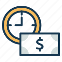 cash, emi, fees, loan, money, payment, schedule icon