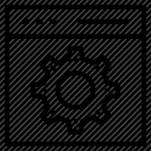 browser, optimization, preferences, seo, settings icon