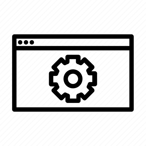 seo, settings, web icon