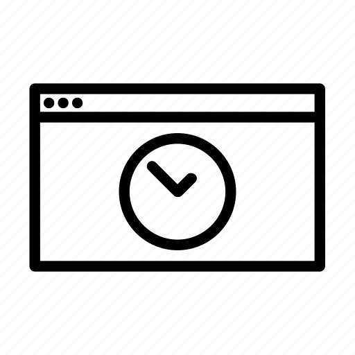 clock, site, speed, web icon