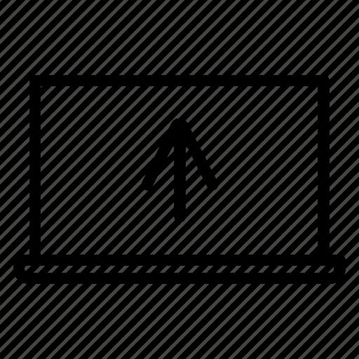 arrow, computer, laptop, upload icon