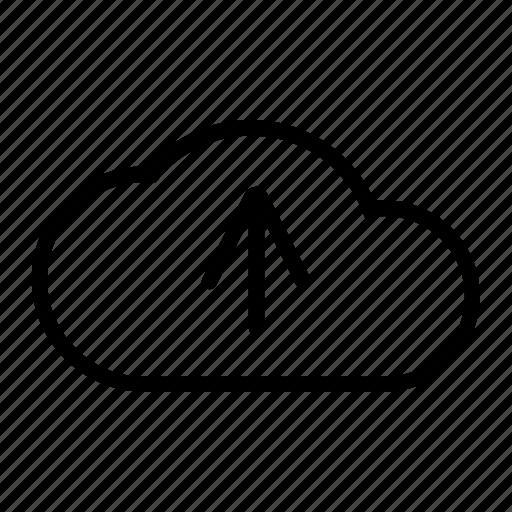 arrow, cloud, seo, upload icon
