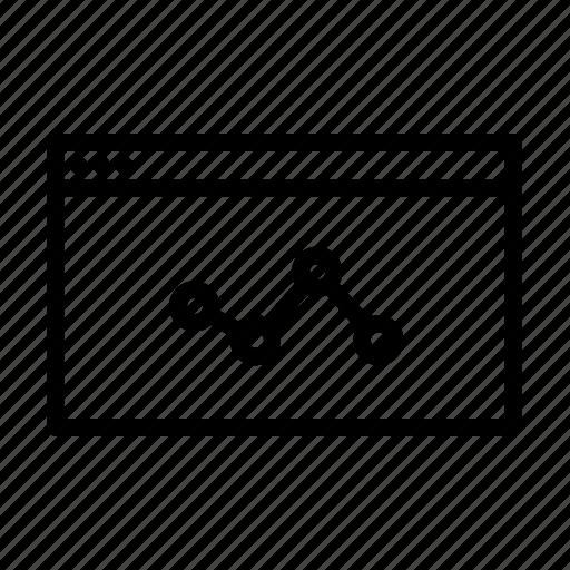 chart, ios, optimisation, seo, web icon