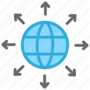 communication, connect, globe, internet, seo icon