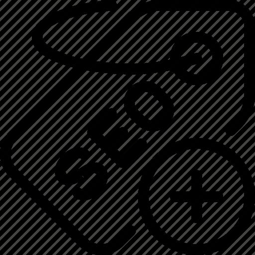 add, label, optimization, seo, tag icon