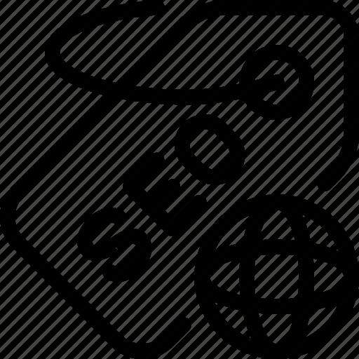 global, label, optimization, seo, tag icon